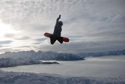 Vivid Snowboarding in Verbier