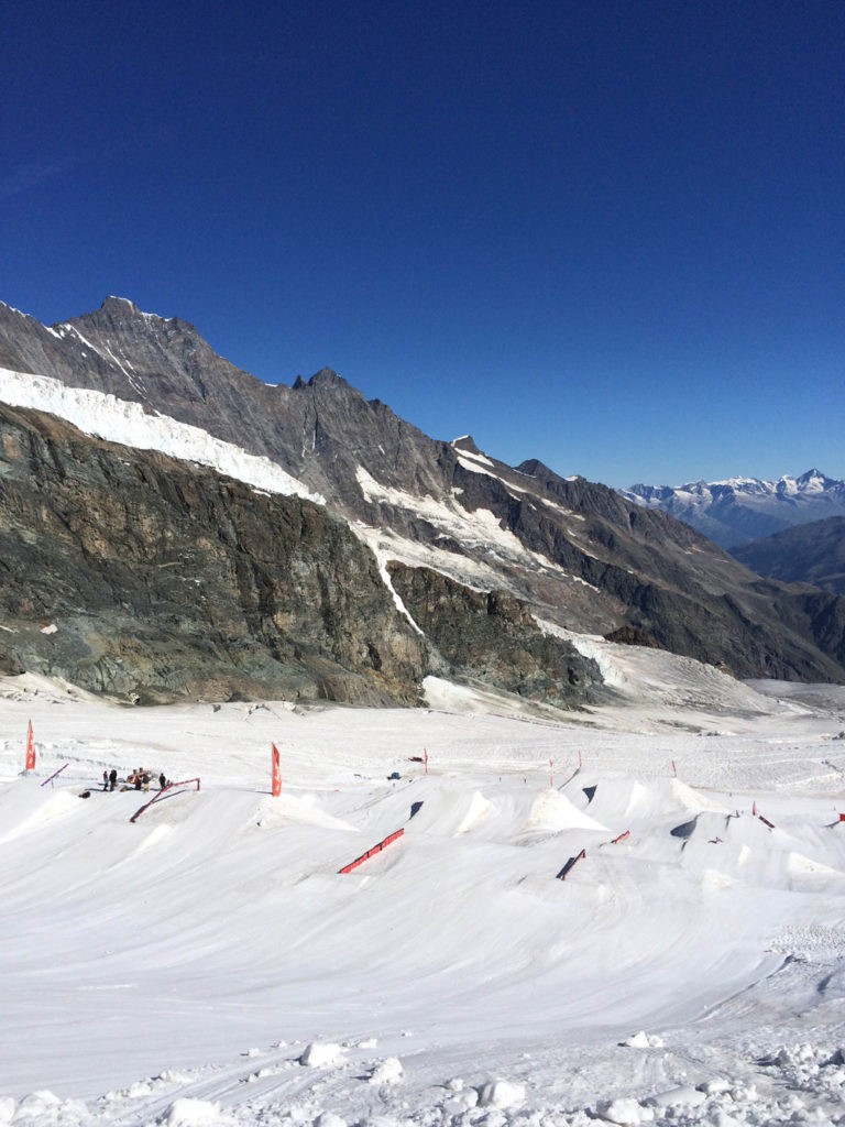 Saas Fee in the summer is a freestyle heaven