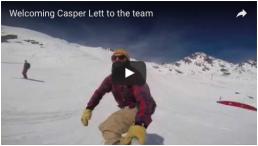 Casper riding the Verbier snowpark