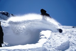 Backcountry riding in Verbier