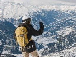 Freeriding above Verbier