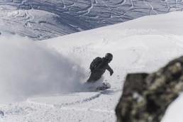 off-piste snowboarding in Verbier