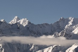 one of the beautiful back drops of the mountains in Verbier