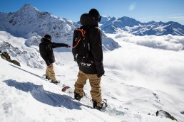 On the slopes of Mont Gele in Verbier