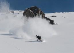 Powder riding in Verbier